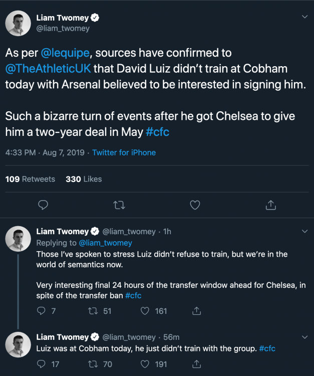 Liam Twomey on Twitter As per lequipe, sources have confirmed to TheAthleticUK that David Luiz didn't[...].png