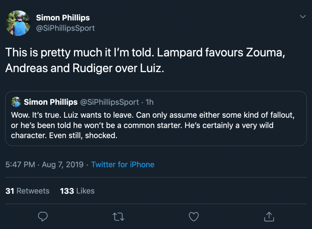 Simon Phillips on Twitter This is pretty much it I'm told Lampard favours Zouma, Andreas and Rudiger [...].png