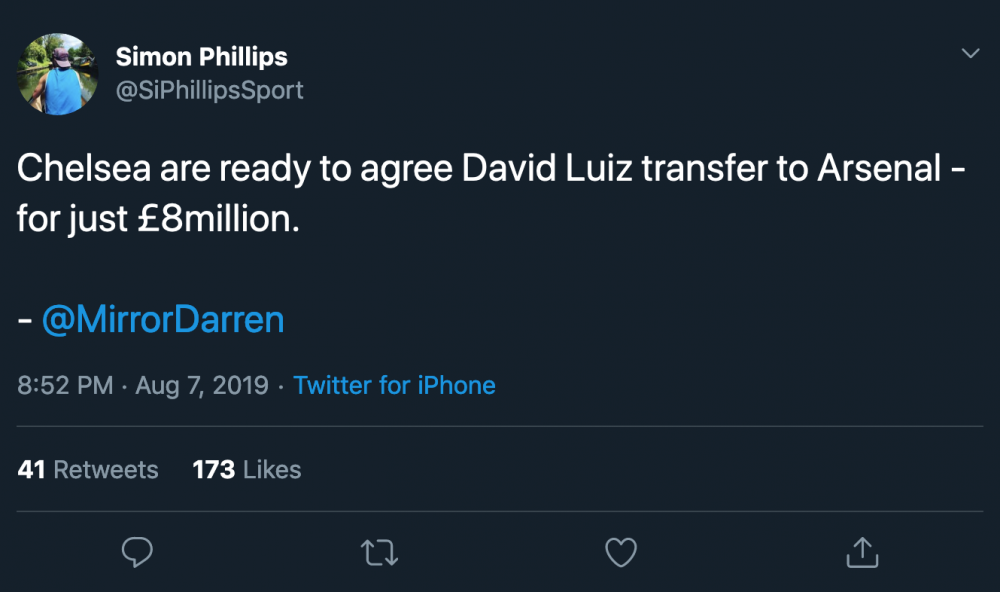 Screenshot_2019-08-07 Simon Phillips on Twitter Chelsea are ready to agree David Luiz transfer to Arsenal - for just £8mill[...].png