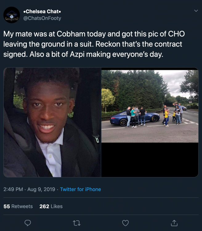 Screenshot_2019-08-09 •Chelsea Chat• on Twitter My mate was at Cobham today and got this pic of CHO leaving the ground in a[...].png